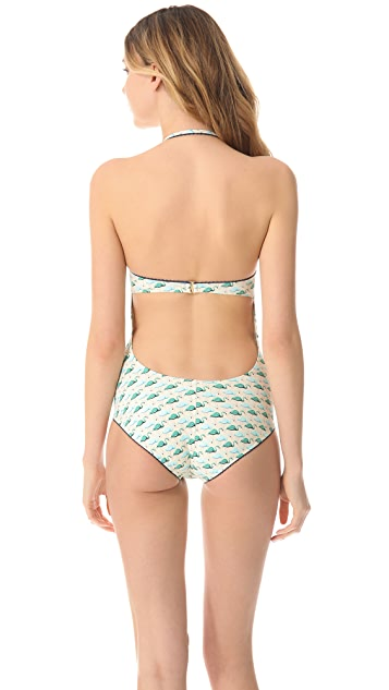Tory Burch Flamingo Sanibel One Piece Swimsuit