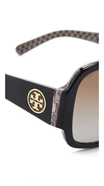 Tory Burch Polarized Logo Sunglasses