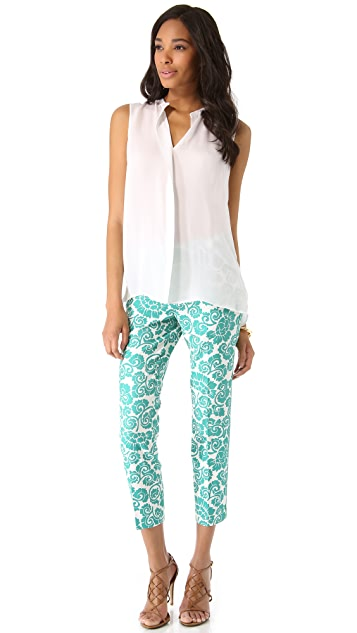 Tory Burch Walton Printed Pants