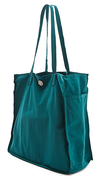 Tory Burch Stacked Logo Travel Tote