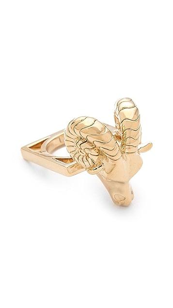 Tory Burch Ram Head Ring