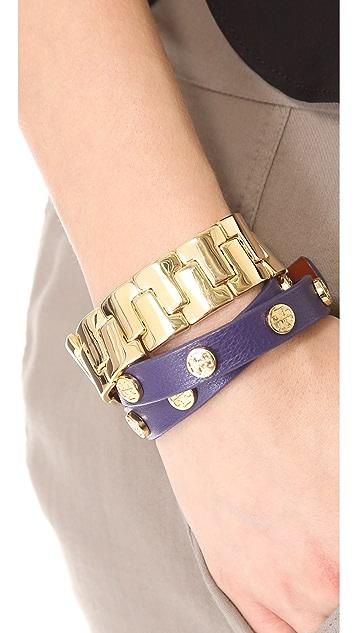 Tory Burch Skinny T Stretch Bracelet