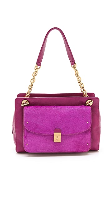 Tory Burch Priscilla Haircalf Shoulder Bag