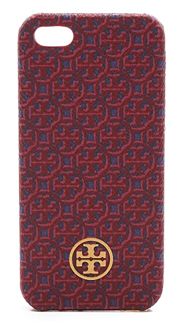 Tory Burch Lyla Printed Canvas Hardshell iPhone 5 Case