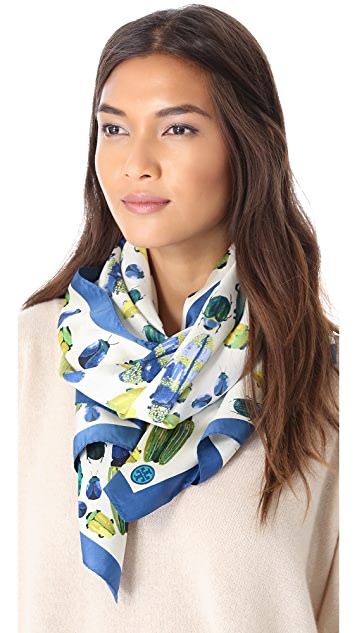 Tory Burch Multi Beetle Scarf