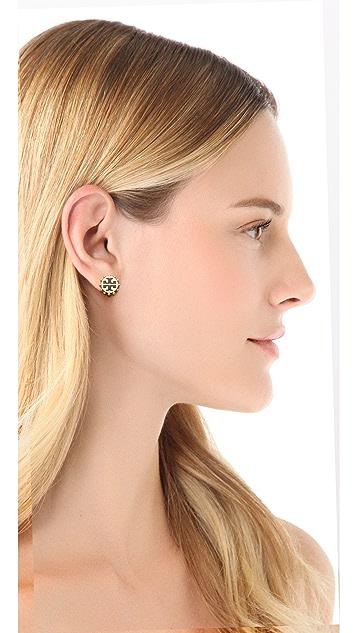 Tory Burch Winslow Logo Stud Earrings