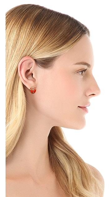 Tory Burch Winslow Beetle Stud Earrings