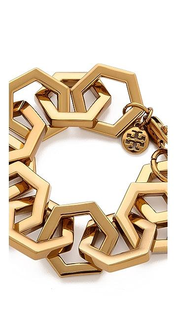 Tory Burch Hexagon Link Bracelet