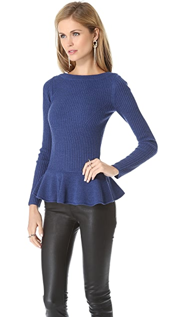 Tory Burch Ramona Peplum Sweater