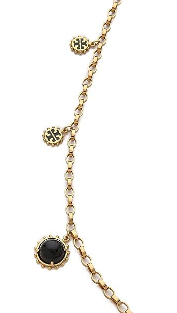 Tory Burch Winslow Logo Rosary Necklace