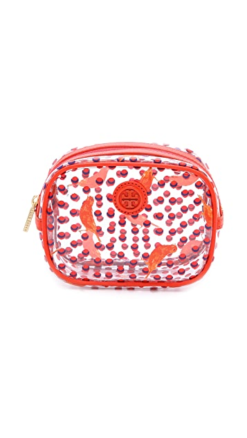 Tory Burch Lizzie Printed Small Cosmetic Case