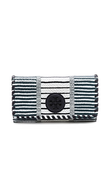 Tory Burch Marion Patchwork Envelope Continental Wallet