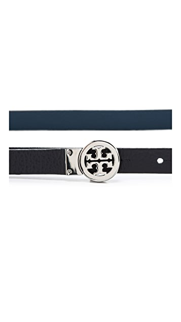 Tory Burch Mini Rotating Logo Belt