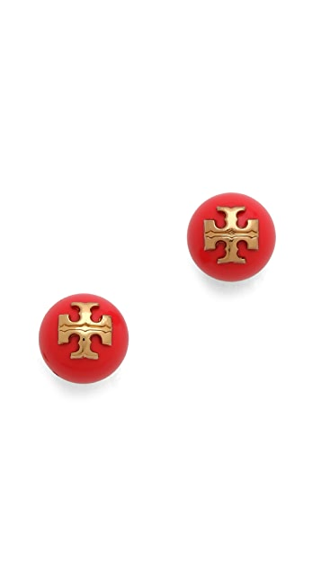 Tory Burch Colored Evie Stud Earrings