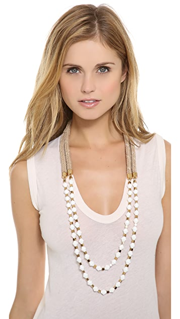 Tory Burch Double Strand Rope Necklace