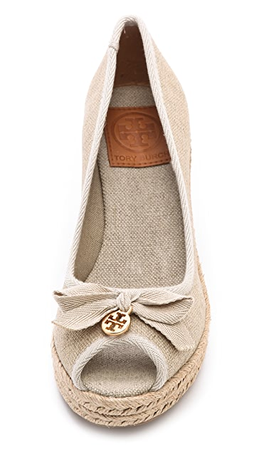 Tory Burch Jackie Peep Toe Wedge Espadrilles