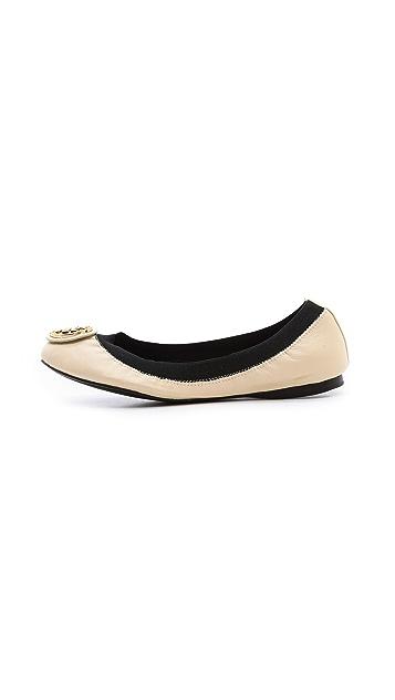 ... Tory Burch Caroline 2 Elastic Ballet Flats ...