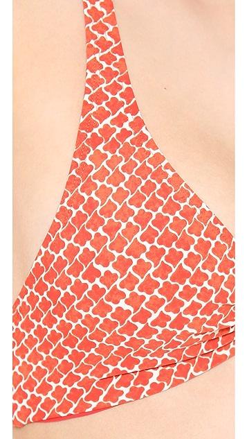 Tory Burch Savu Logo Halter Bikini Top