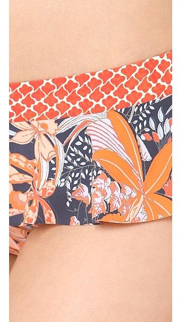 Tory Burch Calathea Skirted Bikini Bottoms