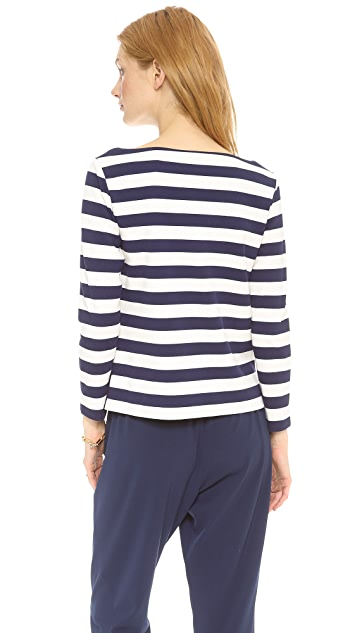 Tory Burch Augusta Striped Top