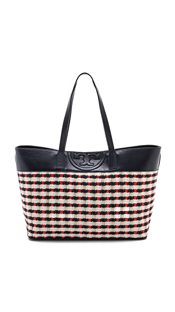 Tory Burch Soft Straw Multi E / W Tote