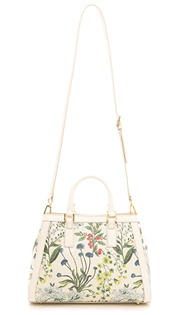 Tory Burch Robinson Printed Canvas Triangle Tote