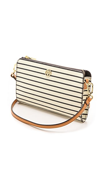 Tory Burch Robinson Printed Wallet Cross Body Bag