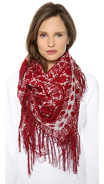 Tory Burch Silesa Floral Square Scarf