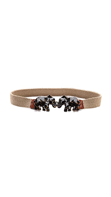 Tory Burch Tortoise Elephant Belt