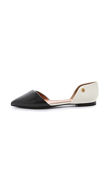 Tory Burch Viv Two Tone d'Orsay Flats