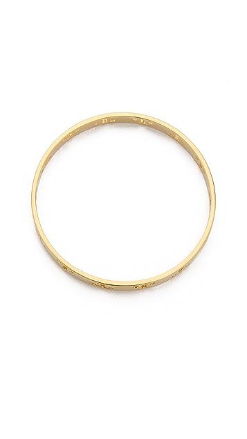 Tory Burch Pierced T Bangle Bracelet