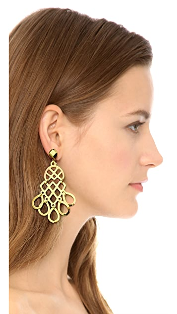 Tory Burch Cutout Earrings