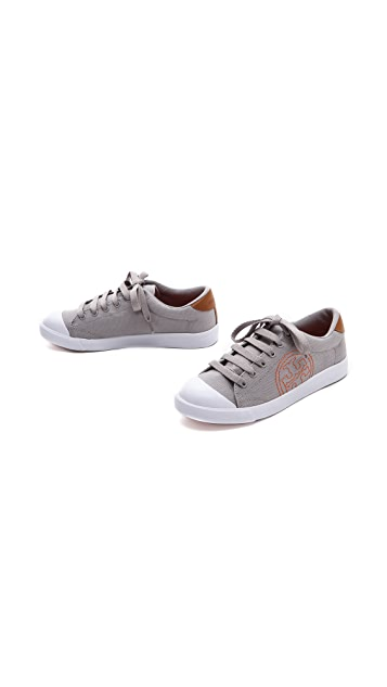 Tory Burch Wally Logo Stitch Sneakers