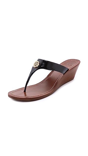 Tory Burch Cameron Wedge Thong Sandals ...