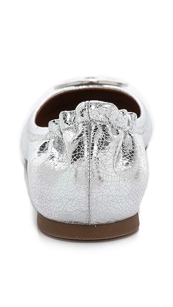 Tory Burch Reva Mirror Crackle Ballet Flats