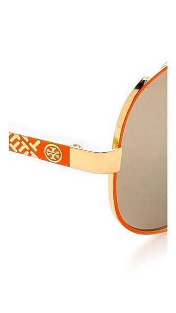 Tory Burch Mirrored Aviator Sunglasses