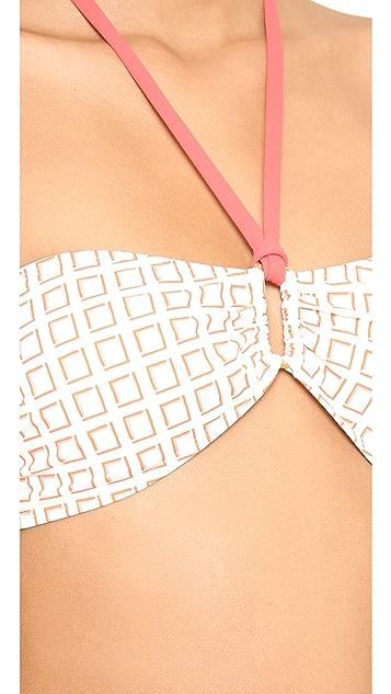 Tory Burch Maroma Bandeau Bikini Top