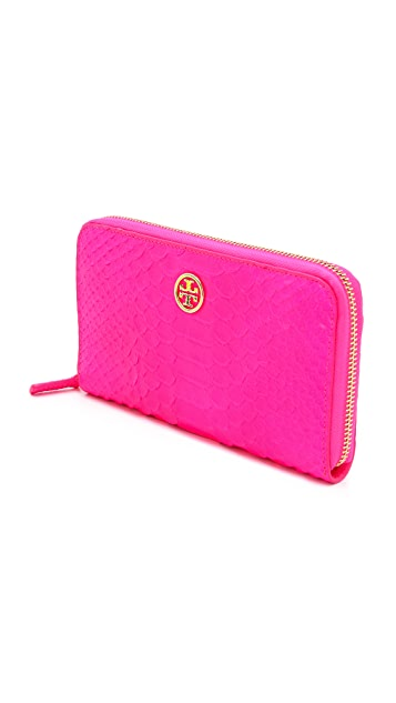 Tory Burch Neon Zip Continental Wallet