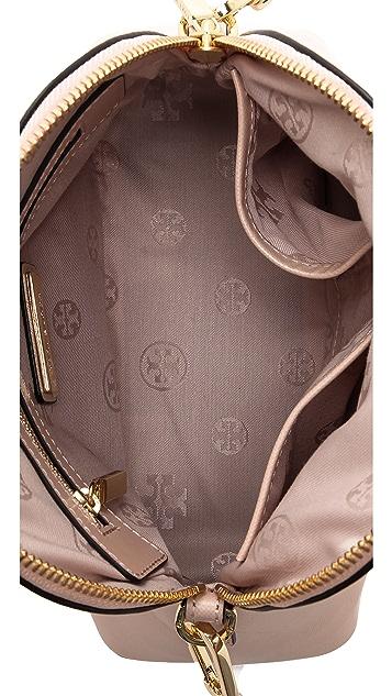 Tory Burch Robinson Stripe Mini Dome Bag
