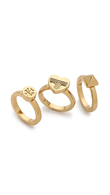 Tory Burch Adeline Stackable Rings