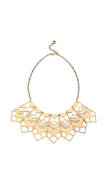 Tory Burch Chevron Short Necklace