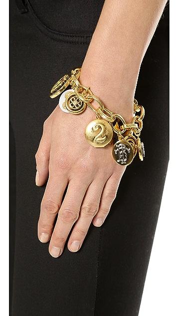 Tory Burch Dellora Charm Bracelet