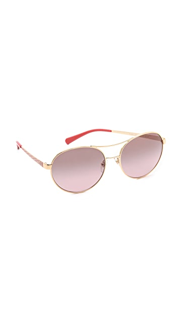 Tory Burch Gradient Aviator Sunglasses