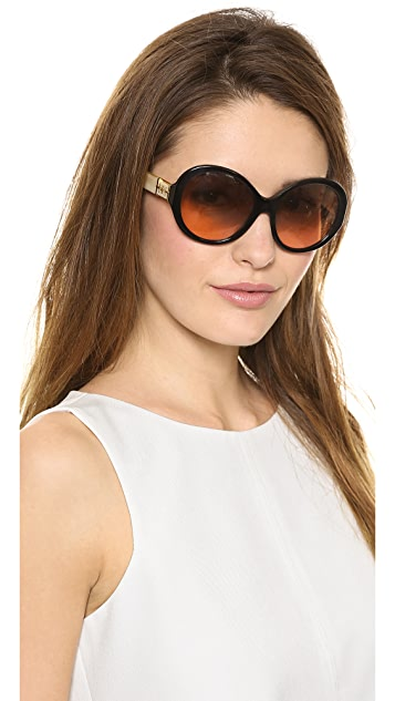 Tory Burch Round T Ring Sunglasses