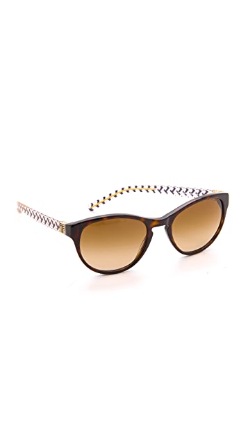 Tory Burch Round Sunglasses