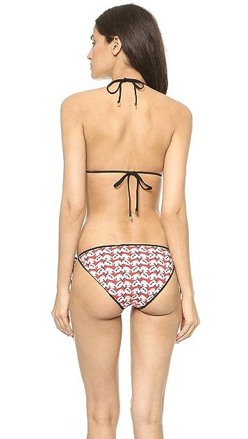 Tory Burch Calyx Reversible Bikini Top