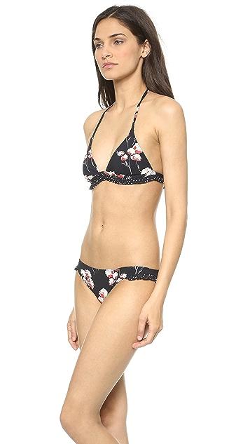 Tory Burch Solaro Ruffle Bikini Top