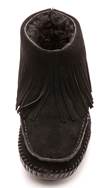 Tory Burch Collins Fringe Suede Moccasins