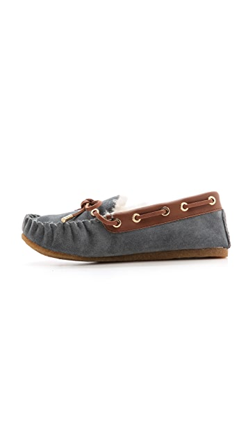 Tory Burch Maxwell Suede Moccasins