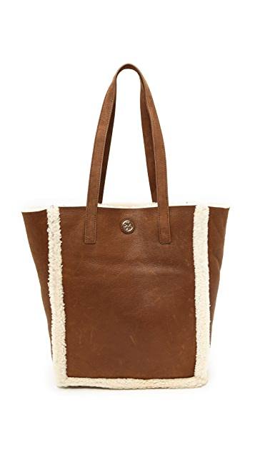 Tory Burch Shearling North / South Tote